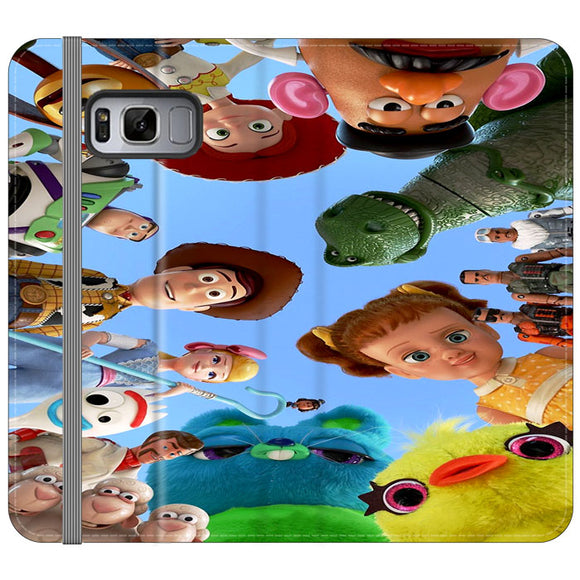 Toy Story 4 Photoshoot With Friends Character Samsung Galaxy S8 Plus Flip Case | Frostedcase