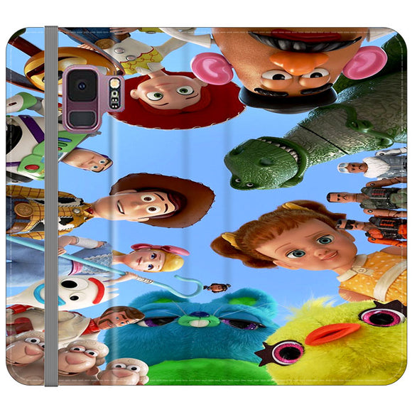 Toy Story 4 Photoshoot With Friends Character Samsung Galaxy S9 Flip Case | Frostedcase