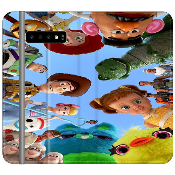 Toy Story 4 Photoshoot With Friends Character Samsung Galaxy S10 Plus Flip Case | Frostedcase