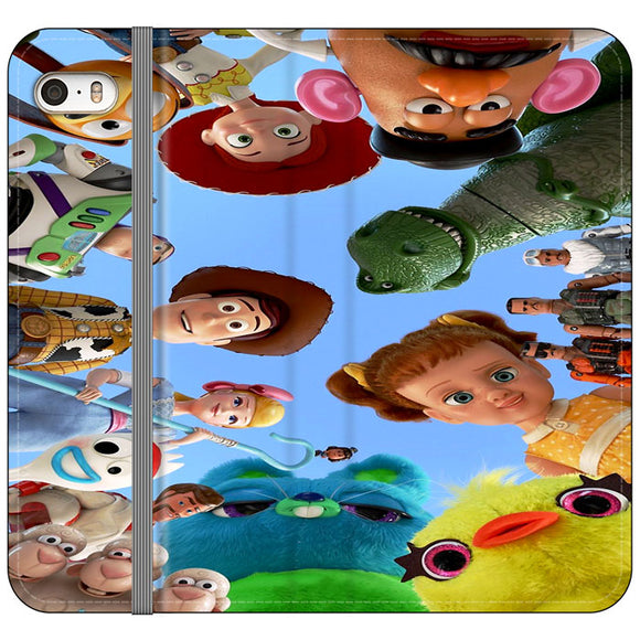 Toy Story 4 Photoshoot With Friends Character iPhone 5|5S|SE Flip Case | Frostedcase