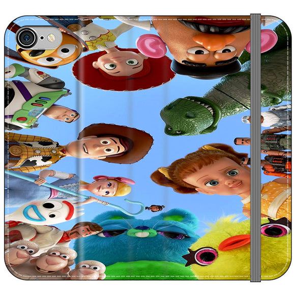 Toy Story 4 Photoshoot With Friends Character iPhone 7 Flip Case | Frostedcase