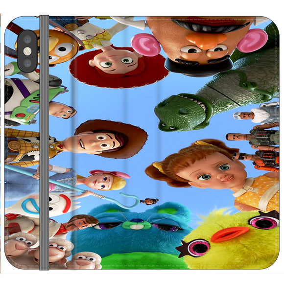 Toy Story 4 Photoshoot With Friends Character iPhone XS Flip Case | Frostedcase