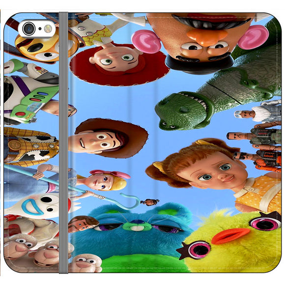 Toy Story 4 Photoshoot With Friends Character iPhone 6 Plus|6S Plus Flip Case | Frostedcase
