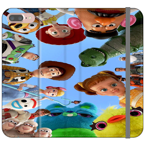 Toy Story 4 Photoshoot With Friends Character iPhone 7 Plus Flip Case | Frostedcase