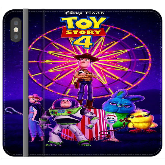 Toy Story 4 Poster iPhone X Flip Case | Frostedcase