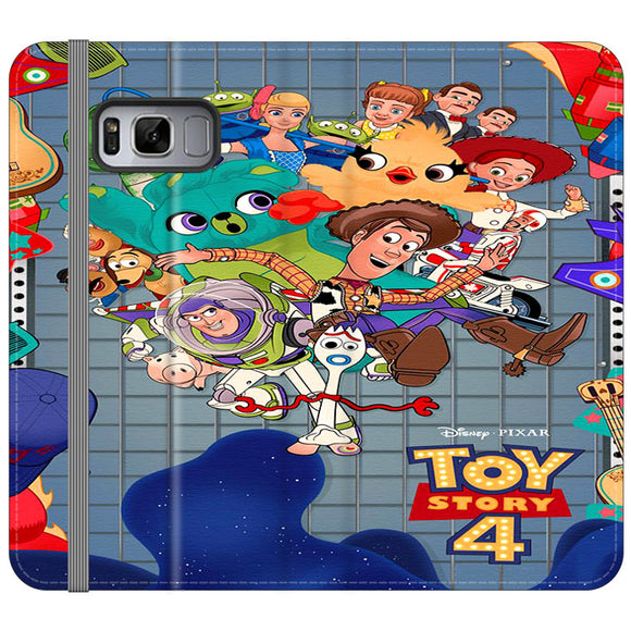 Toy Story 4 Poster Cartoon Samsung Galaxy S8 Plus Flip Case | Frostedcase