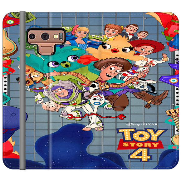 Toy Story 4 Poster Cartoon Samsung Galaxy Note 9 Flip Case | Frostedcase