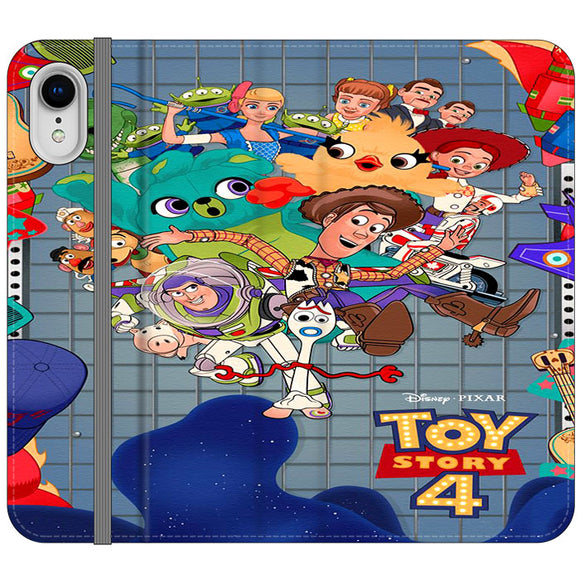 Toy Story 4 Poster Cartoon iPhone XR Flip Case | Frostedcase