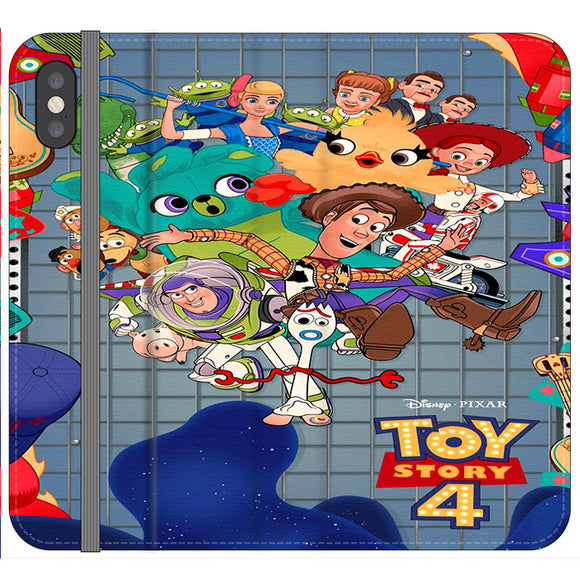 Toy Story 4 Poster Cartoon iPhone XS Flip Case | Frostedcase
