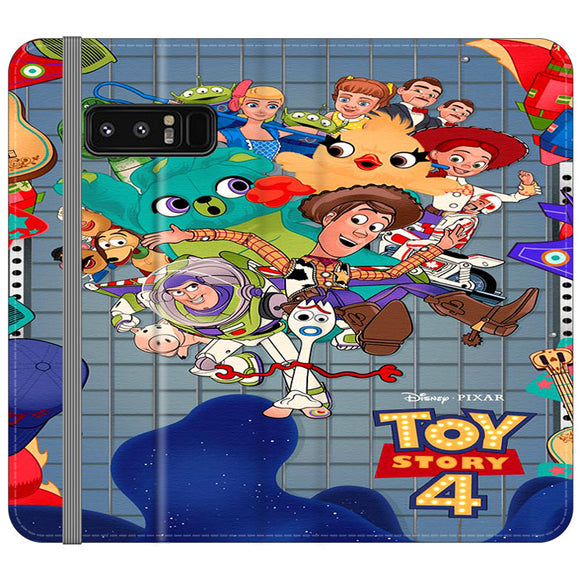 Toy Story 4 Poster Cartoon Samsung Galaxy Note 8 Flip Case | Frostedcase