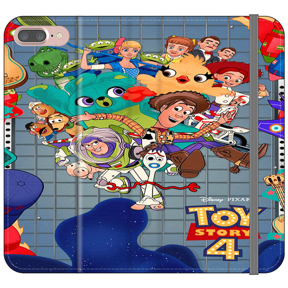 Toy Story 4 Poster Cartoon iPhone 8 Plus Flip Case | Frostedcase