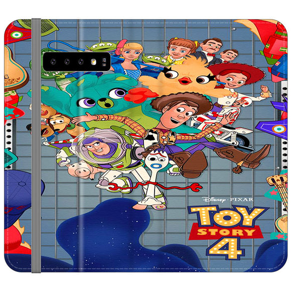 Toy Story 4 Poster Cartoon Samsung Galaxy S10 Plus Flip Case | Frostedcase