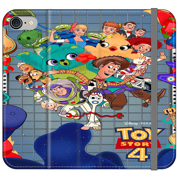 Toy Story 4 Poster Cartoon iPhone 8 Flip Case | Frostedcase