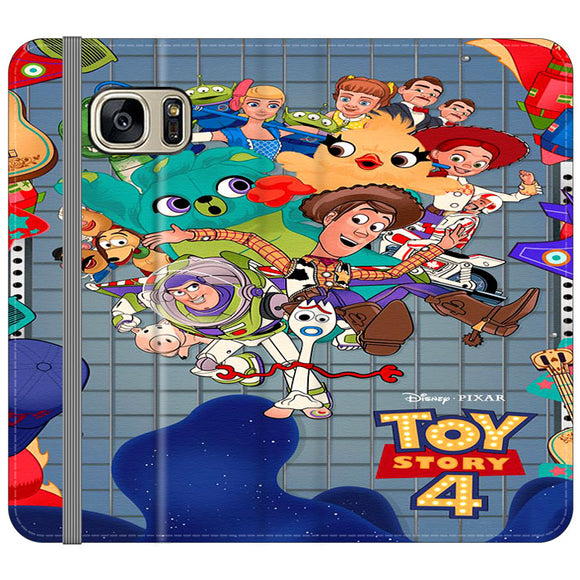 Toy Story 4 Poster Cartoon Samsung Galaxy S7 EDGE Flip Case | Frostedcase
