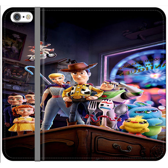 Toy Story 4 Poster In Action iPhone 6|6S Flip Case | Frostedcase