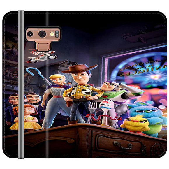Toy Story 4 Poster In Action Samsung Galaxy Note 9 Flip Case | Frostedcase