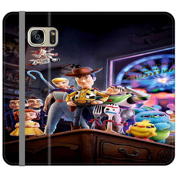 Toy Story 4 Poster In Action Samsung Galaxy S7 EDGE Flip Case | Frostedcase