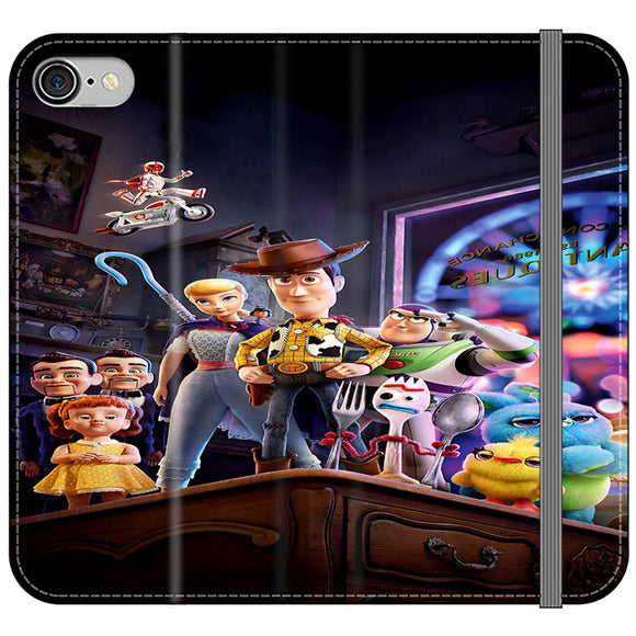Toy Story 4 Poster In Action iPhone 8 Flip Case | Frostedcase