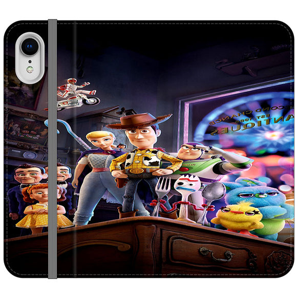 Toy Story 4 Poster In Action iPhone XR Flip Case | Frostedcase