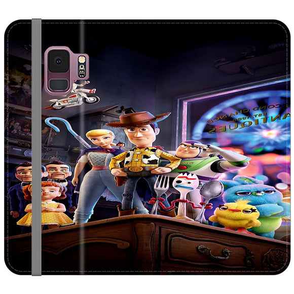 Toy Story 4 Poster In Action Samsung Galaxy S9 Flip Case | Frostedcase