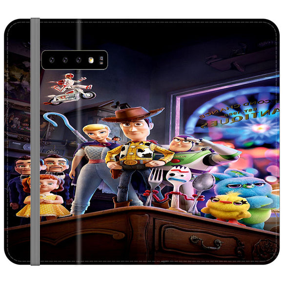 Toy Story 4 Poster In Action Samsung Galaxy S10 Plus Flip Case | Frostedcase