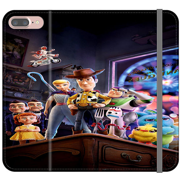 Toy Story 4 Poster In Action iPhone 8 Plus Flip Case | Frostedcase