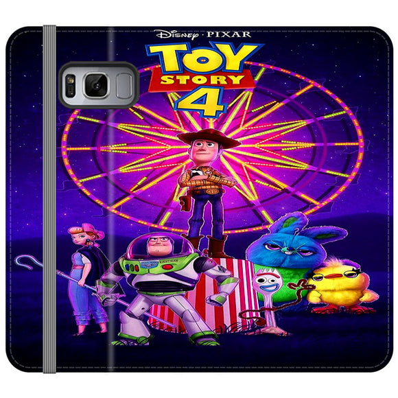Toy Story 4 Poster Samsung Galaxy S8 Flip Case | Frostedcase