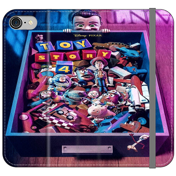Toy Story 4 In The Antiques Item Box iPhone 8 Flip Case | Frostedcase