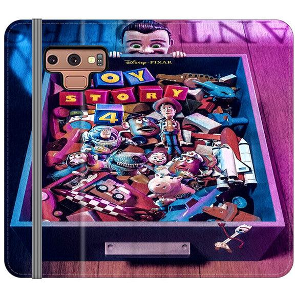 Toy Story 4 In The Antiques Item Box Samsung Galaxy Note 9 Flip Case | Frostedcase