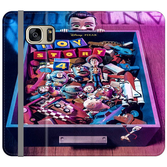 Toy Story 4 In The Antiques Item Box Samsung Galaxy S7 EDGE Flip Case | Frostedcase