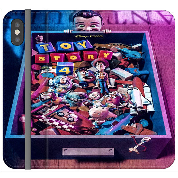 Toy Story 4 In The Antiques Item Box iPhone XS Flip Case | Frostedcase