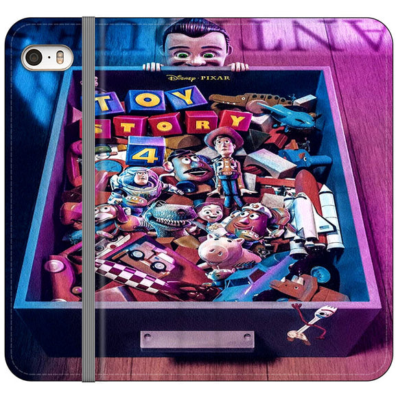 Toy Story 4 In The Antiques Item Box iPhone 5|5S|SE Flip Case | Frostedcase