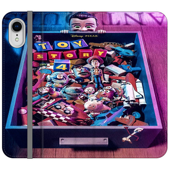 Toy Story 4 In The Antiques Item Box iPhone XR Flip Case | Frostedcase