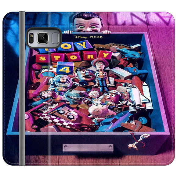 Toy Story 4 In The Antiques Item Box Samsung Galaxy S8 Flip Case | Frostedcase