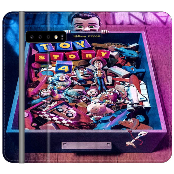 Toy Story 4 In The Antiques Item Box Samsung Galaxy S10 Plus Flip Case | Frostedcase
