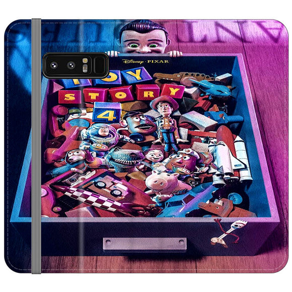 Toy Story 4 In The Antiques Item Box Samsung Galaxy Note 8 Flip Case | Frostedcase