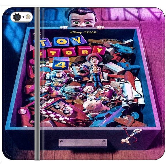 Toy Story 4 In The Antiques Item Box iPhone 6|6S Flip Case | Frostedcase