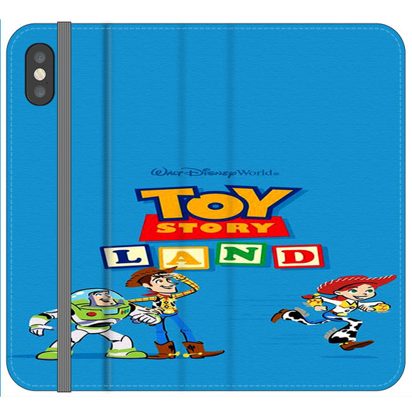 Toy Story Land Woody And Friends iPhone XS Flip Case | Frostedcase