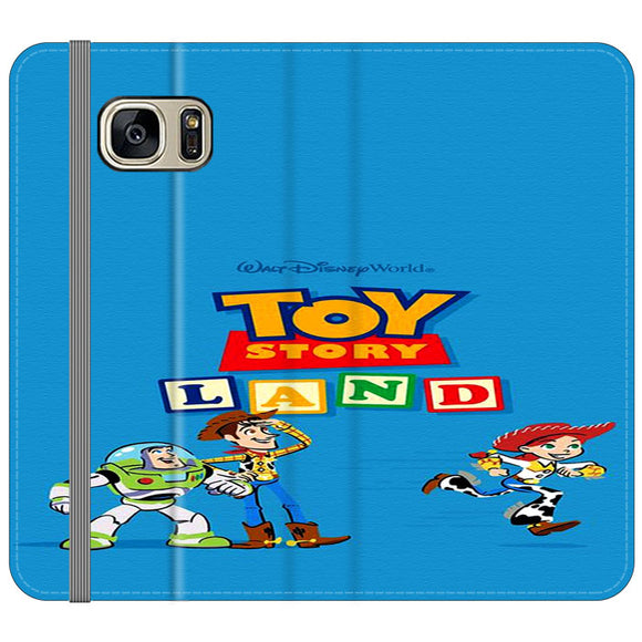 Toy Story Land Woody And Friends Samsung Galaxy S7 EDGE Flip Case | Frostedcase