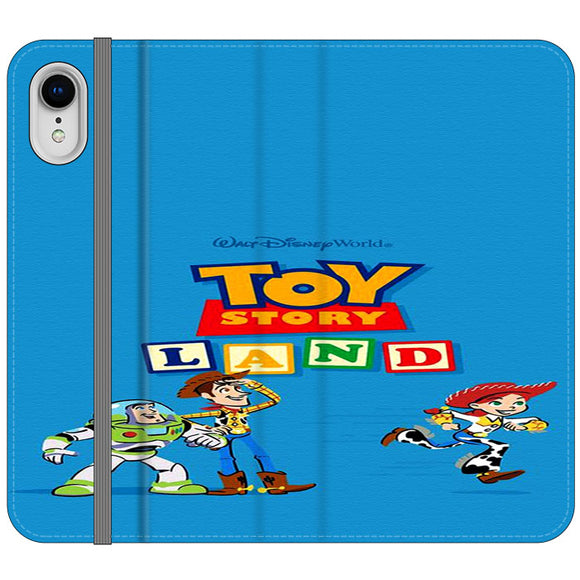 Toy Story Land Woody And Friends iPhone XR Flip Case | Frostedcase