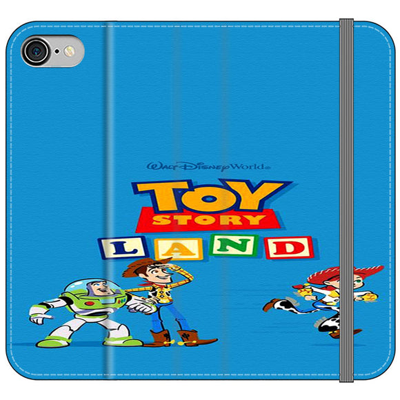 Toy Story Land Woody And Friends iPhone 7 Flip Case | Frostedcase