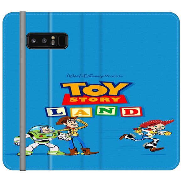 Toy Story Land Woody And Friends Samsung Galaxy Note 8 Flip Case | Frostedcase