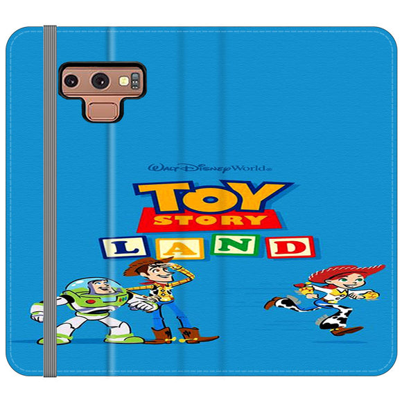 Toy Story Land Woody And Friends Samsung Galaxy Note 9 Flip Case | Frostedcase