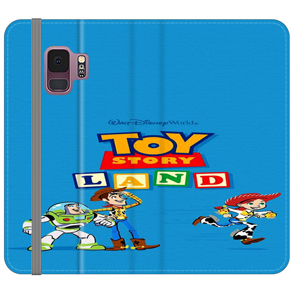 Toy Story Land Woody And Friends Samsung Galaxy S9 Flip Case | Frostedcase