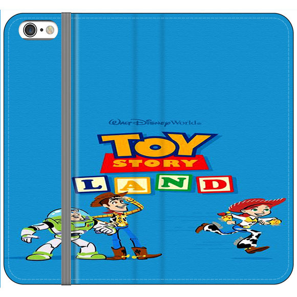 Toy Story Land Woody And Friends iPhone 6 Plus|6S Plus Flip Case | Frostedcase