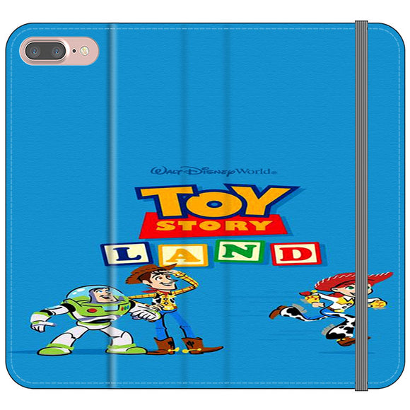 Toy Story Land Woody And Friends iPhone 7 Plus Flip Case | Frostedcase