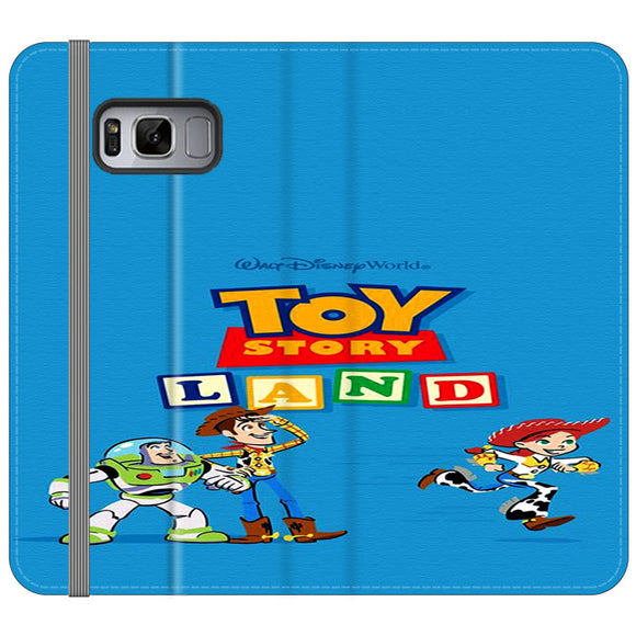 Toy Story Land Woody And Friends Samsung Galaxy S8 Flip Case | Frostedcase