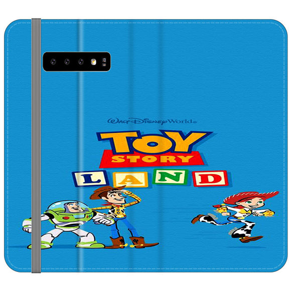 Toy Story Land Woody And Friends Samsung Galaxy S10 Plus Flip Case | Frostedcase