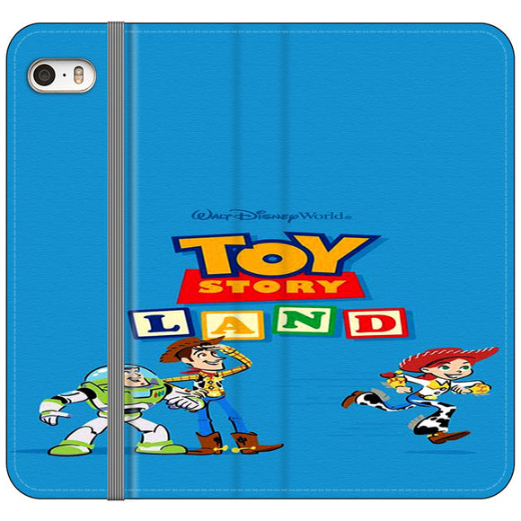 Toy Story Land Woody And Friends iPhone 5|5S|SE Flip Case | Frostedcase