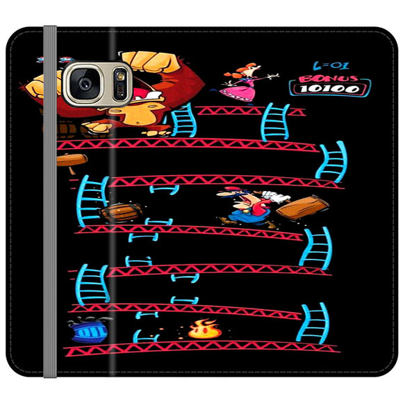 Triple King Kong Animation Game Samsung Galaxy S7 EDGE Flip Case | Frostedcase